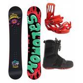Salomon Salvatore Sanchez Snowboard w/ Salomon Echelon Boots Black/Rubis-X & Salomon Rhythm Bindings Red