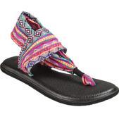 Sanuk Women's Yoga Sling 2 Flip-Flops, Magenta/multi Stripe - Size 8