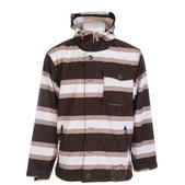 Sessions Flicker Stripe Snowboard Jacket Java Stripe