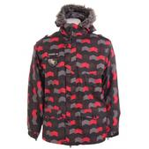 Sessions Recon Zig Zag Snowboard Jacket Black/Red Alert