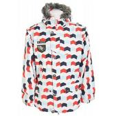 Sessions Recon Zig Zag Snowboard Jacket Blue/White