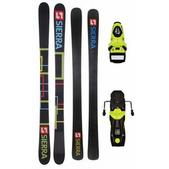 Sierra SB Twin Camrock Skis w/ Rossignol Axium 110 Bindings Fluro Yellow