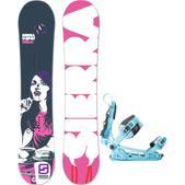 Sierra V Spot Snowboard w/ K2 Cinch Tryst Bindings