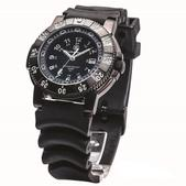 Smith & Wesson 357 - Diver Swiss Tritium Watch w/Rubber Band SWW-357-R