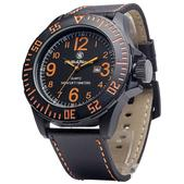 Smith & Wesson EGO Watch-Silicon Strap with Blk/Orange Face SWW-LW6058