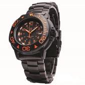 Smith & Wesson Swiss Tritium Diver Watch - Black/Orange SWW-900-OR