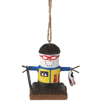 Smores Competitive Biker Ornament