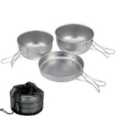 Snow Peak 3 Piece Cookware Set Titanium