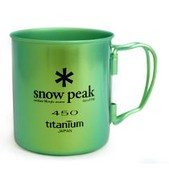 Snow Peak 450 Single Walled Titanium Cup - Colored