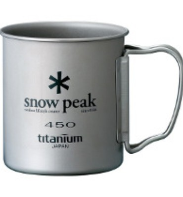 Snow Peak 450 Single Walled Titanium Cup