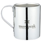 Snow Peak Logo Double Wall Mug 330 - Stainless Steel