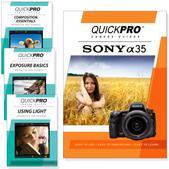 Sony A35 DVD 4 pack Intermediate Instructional Manual Bundle