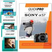 Sony A57 DVD 4 pack Intermediate Instructional Manual Bundle