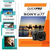 Sony A77 DVD 4 pack Intermediate Instructional Manual Bundle
