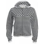 Special Blend Stripe Zip Hoodie Black Strp