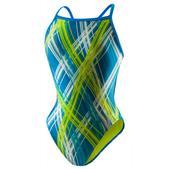Speedo Sprocket Fly Back Swimsuit - Women's Size 40 Color Blue/Green
