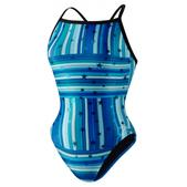 Speedo Star Mania Fly Back Swimsuit - Girl's Size 22 Color Blue