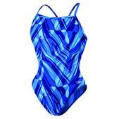 Speedo Zee Wave Flyback Swimsuit - Women's Size 28 Color Blue