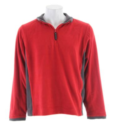 Stormtech Microlight 1/4 Zip Pullover Fleece Red/Granite