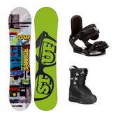 Stuff Surge Squirt Kids Complete Snowboard Package