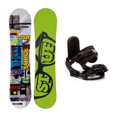 Stuff Surge Stealth Kids Snowboard and Binding Package