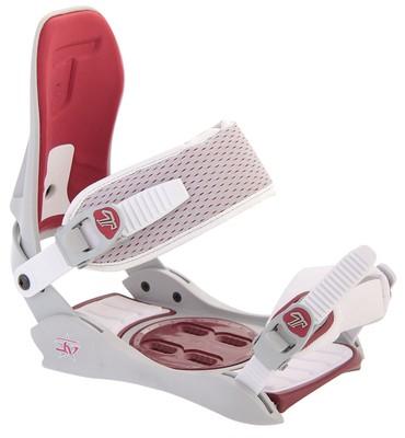 Technine Jv Snowboard Bindings Off White/Red - Women's