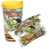 Tervis Cheeseburger In Paradise 16 Oz. Tumbler, With Lid