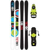 Teton Floater Rocker Skis w/ Rossignol Axium 110 Bindings Fluro Yellow