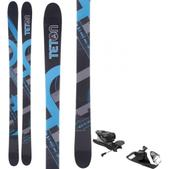 Teton Rendevous Rocker V2 Skis w/ Look NX 12 Dual WTR Bindings