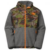 The  North  Face Boy`s Youth Denali Hoodie (CHARCOAL GREY HEATHE, M)
