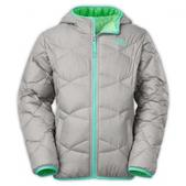 The  North  Face Girl`s Youth Moondoggy Jacket (METALLIC SILVER, XL)