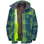 The  North  Face Mens Madplaid Triclimate Jacket (ANDES GREEN, XL)