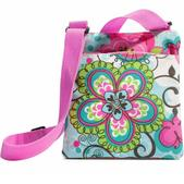 Three Cheers for Girls - Blue Flower Power Mini Tote
