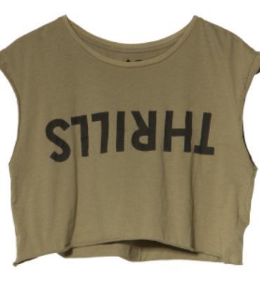 Thrills Co Crop Logo T-Shirt - Short-Sleeve - Women's