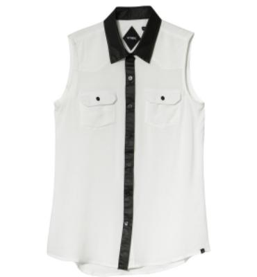 Thrills Co Waxed Cotton Shirt - Sleeveless - Women's