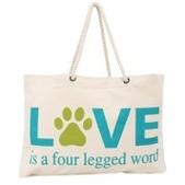 """Thro Love is a Four Legged Word Tote Bag - 22x15"""""""