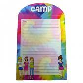 Tie Dye Girls Fold-Over Camp Stationery