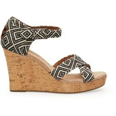 Toms Woven Diamond Strappy Wedges for Women