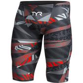 TYR Avictor Prelude Technical Swim Jammer - Men's Size 27 Color Grey/Red