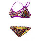 TYR Check Crosscutfit Workout Bikini 2-Piece Swimsuit - Women's Size XL Color Purple/Orange