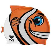 Tyr Sport Inc Kids CharacTYR Happy Fish Swim Cap, Orange