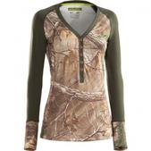 Under  Armour Women`s Evo Scent Control Henley (REALTREE AP/FAWN, M)