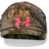 Under Armour Women's Ua Coldgear Infrared Scent Control Camo Beanie - Realtree Ap Xtra / Pink Chroma