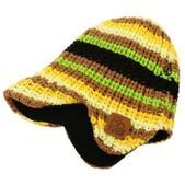 Volcom Hand Knit Stripe Visor Beanie