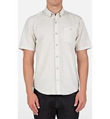 Volcom Mens Everett Mini Check Short Sleeve Shirt - Sale