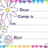 Wavy Gingham Fill-In Camp Postcards