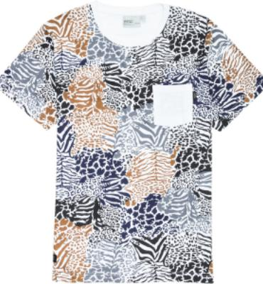 WeSC Zebraffger Camo T-Shirt - Short-Sleeve - Men's