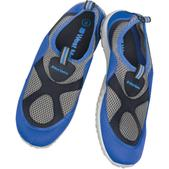 West Marine Mens Slip-On Aqua Socks, Black/Royal, 6