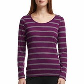 Women's Crush Long Sleeve Scoop Stripe
