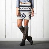 Women's Diamond Sweater Skirt